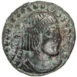 BUKHARA: Asbar, ca. 5th century, AE cash (2.05g). VF-EF