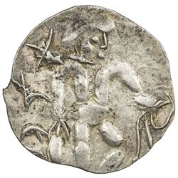 SOUTHERN SOGHD: Unknown ruler, ca. 1st-2nd century AD, AR obol (0.61g). EF