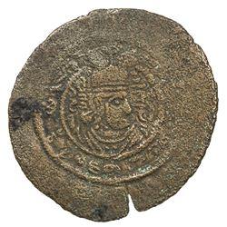 ARAB-SASANIAN: al-Hajjaj b. Yusuf, 694-713, AE pashiz (1.44g), NM, ND. F-VF