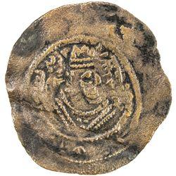 ARAB-SASANIAN: al-Hajjaj b. Yusuf, 694-713, AE pashiz (0.50g), NM, ND. VF