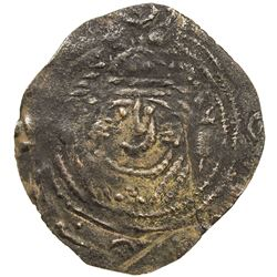 ARAB-SASANIAN: Anonymous, ca. 700-720, AE pashiz (0.54g), NM, ND. F-VF