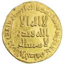UMAYYAD: al-Walid I, 705-715, AV dinar (4.29g), NM (Dimashq), AH91. AU