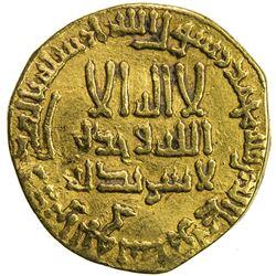 ABBASID: al-Mansur, 754-775, AV dinar (3.90g), NM, AH158. VF