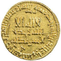 ABBASID: al-Mahdi, 775-785, AV dinar (4.26g), NM, AH165. AU