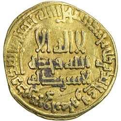ABBASID: al-Rashid, 786-809, AV dinar (4.24g), NM (Madinat al-Salam), AH186. VF