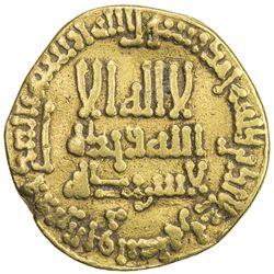 ABBASID: al-Rashid, 786-809, AV dinar (4.12g), NM (Madinat al-Salam), AH186. F-VF
