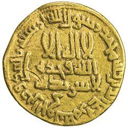 ABBASID: al-Rashid, 786-809, AV dinar (3.99g), NM (Egypt), AH170. F-VF