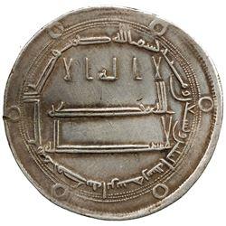 ABBASID: al-Rashid, 786-809, AR dirham (2.91g), Abarshahr, AH192. VF