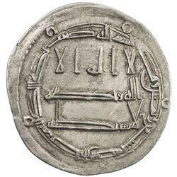 ABBASID: al-Rashid, 786-809, AR dirham (2.86g), Arran, AH189. VF-EF