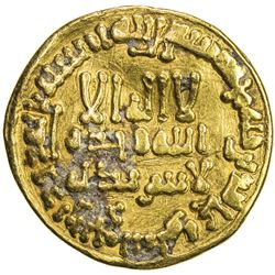 ABBASID: al-Amin, 809-813, AV dinar (4.18g), NM (Madinat al-Salam), AH195. VF