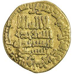 ABBASID: al-Ma'mun, 810-833, AV dinar (3.80g), Misr, AH200. F