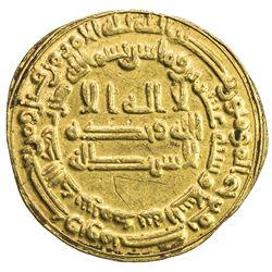 ABBASID: al Mu'tasim, 833-842, AV dinar (4.20g), Madinat al-Salam, AH220. EF