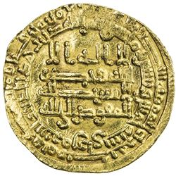 ABBASID: al-Mu'tamid, 870-892, AV dinar (4.27g), Surra man Ra'a, AH265. VF