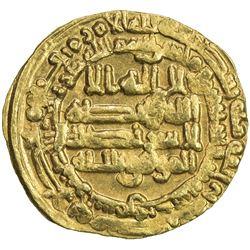 ABBASID: al-Mu'tamid, 870-892, AV dinar (4.06g), Samarqand, AH273. EF