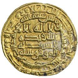 ABBASID: al-Mu'tamid, 870-892, AV dinar (4.24g), Samarqand, AH273. EF