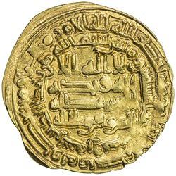 ABBASID: al-Mu'tamid, 870-892, AV dinar (4.20g), Samarqand, AH275. EF