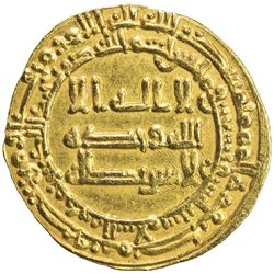 ABBASID: al-Muktafi, 902-908, AV dinar (4.11g), Madinat al-Salam, AH292. AU