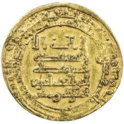 ABBASID: al-Muqtadir, 908-932, AV dinar (4.41g), Misr, AH310. VF