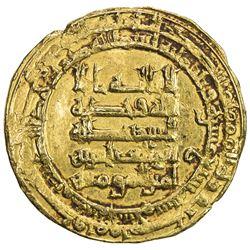 ABBASID: al-Muqtadir, 908-932, AV dinar (4.48g), Madinat al-Salam, AH317. EF