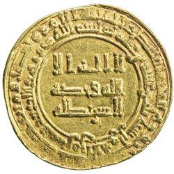 ABBASID: al-Radi, 934-940, AV dinar (4.22g), Tustar min al-Ahwaz, AH323. EF