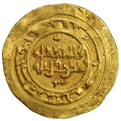 BANU HILAL: Anonymous, 11th century, AV dinar (3.97g), Atrabulus (Tripoli in Libya), DM. EF