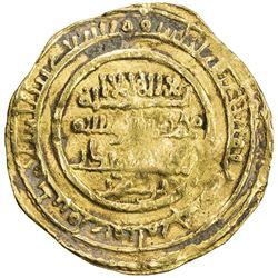 ALMORAVID: Abu Bakr, 1056-1087, AV dinar (5.38g), Aghmat, AH462. F-VF