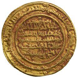 ALMORAVID: 'Ali, 1106-1142, AV dinar (4.14g), al-Mariya (Almeria), AH537. VF