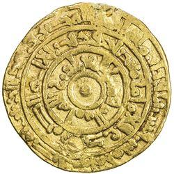 FATIMID: al-Mu'izz, 953-975, AV dinar (4.04g), Misr, AH365. F-VF