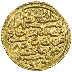 OTTOMAN EMPIRE: Suleyman I, 1520-1566, AV sultani (3.46g), Kocaniye, AH926. EF