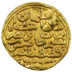 OTTOMAN EMPIRE: Suleyman I, 1520-1566, AV sultani (3.41g), Kostantiniye, AH926. VF
