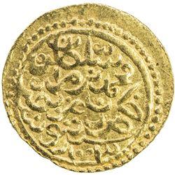 OTTOMAN EMPIRE: Mehmet III, 1595-1603, AV sultani (3.48g), Tunis, AH1003. VF