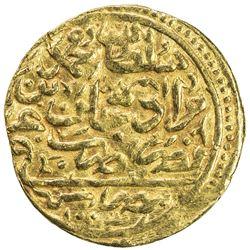 OTTOMAN EMPIRE: Mehmet III, 1595-1603, AV sultani (3.35g), Misr, AH1003. VF