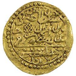 OTTOMAN EMPIRE: Osman II, 1618-1622, AV sultani (3.44g), Halab (Aleppo), AH1027. VF