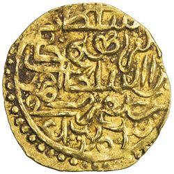 OTTOMAN EMPIRE: Ibrahim, 1640-1648, AV sultani (3.46g), Jaza'ir (Cezayir), AH1052 (retrograde). VF