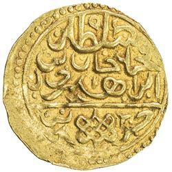 OTTOMAN EMPIRE: Mehmet IV, 1648-1687, AV sultani (3.47g), Jaza'ir (Cezayir), ND. EF