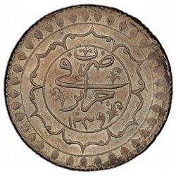 ALGIERS: Mahmud II, 1809-1830, AR 2 budju, Jaza'ir, AH1239. PCGS MS64