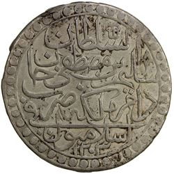 TURKEY: Selim I, 1789-1807, AR 2 zolota (18.79g), Islambul, AH1203 year 1. EF