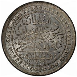 TURKEY: Mahmud II, 1808-1839, AR 60 para, Kostantiniye, AH1223 year 16. PCGS MS66