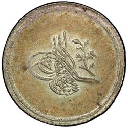 TURKEY: Abdul Mejid, 1839-1861, AR 3 kurush, Kostantiniye, AH1255 year 2. PCGS MS63