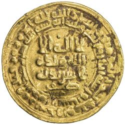 SAMANID: Nuh II, 943-954, AV dinar (4.70g), Nishapur, AH341. VF
