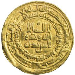 SAMANID: 'Abd al-Malik I, 954-961, AV dinar (4.06g), Nishapur, AH348. VF