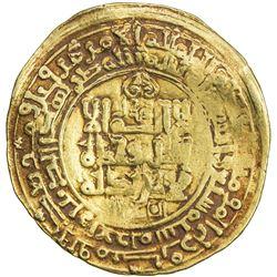 GHAZNAVID: Mahmud, 999-1030, AV dinar (4.58g), Ghazna, AH407. F-VF