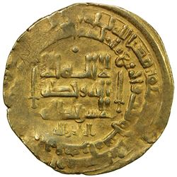 GHAZNAVID: Mahmud, 999-1030, AV dinar (3.75g), Herat, AH403. VF