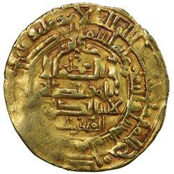 GHAZNAVID: Mahmud, 999-1030, AV dinar (3.09g), Herat, AH406. VF