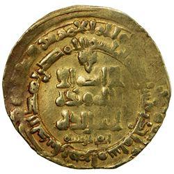 GHAZNAVID: Mahmud, 999-1030, AV dinar (3.45g), Herat, AH411. VF