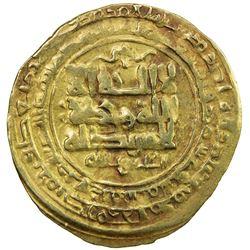 GHAZNAVID: Mas'ud I, 1030-1041, AV dinar (3.11g), Ghazna, AH423. VF