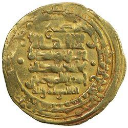 GHAZNAVID: Mas'ud I, 1030-1041, AV dinar (3.95g), Herat, AH424. VF