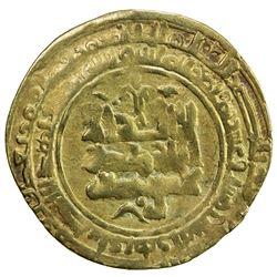 GHAZNAVID: Mas'ud I, 1030-1041, AV dinar (4.33g), Herat, AH425. F-VF