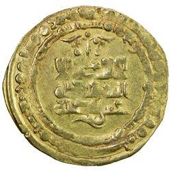 GHAZNAVID: Mas'ud I, 1030-1041, AV dinar (3.50g), Herat, AH427. EF