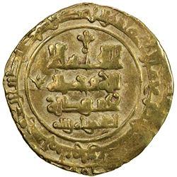 GHAZNAVID: Farrukhzad, 1053-1059, AV dinar (3.50g), Ghazna, AH443. VF